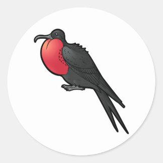 Frigatebird magnífico adesivo redondo
