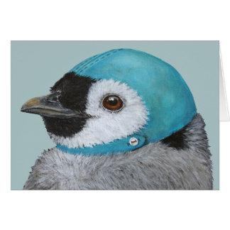 Frisky o cartão de Natal do pinguim