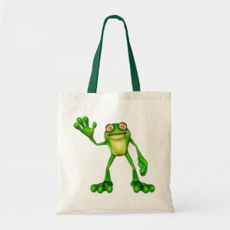 Froggie o sapo de ondulação dos desenhos animados  bolsa tote