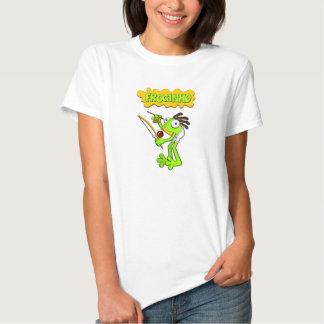 Froginho o camiseta/camisolas das mulheres do sapo tshirts