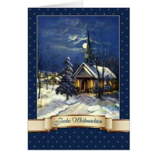 Frohe Weihnachten. Cartão de Natal alemão