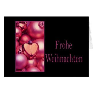 Frohe Weihnachten, cartão de Natal alemão