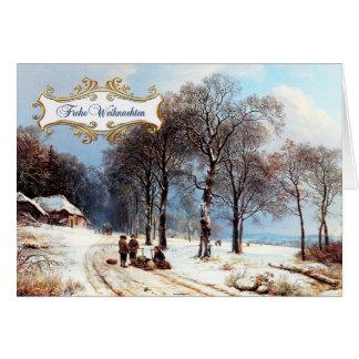Frohe Weihnachten. Cartões de Natal alemães