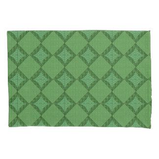Fronha de almofada abstrata verde do teste padrão