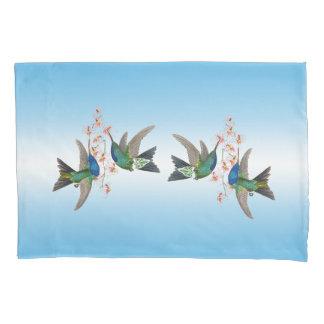 Fronha de almofada azul de Ombre das flores dos