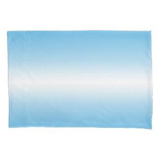 Fronha de almofada branca da cor de Ombre do azul