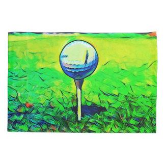 Fronha de almofada coloridas do golfe artístico