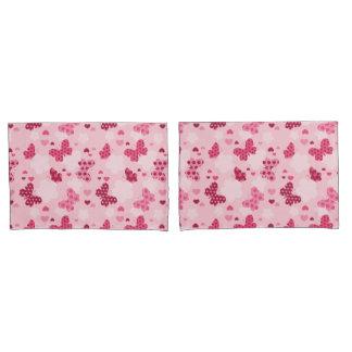 Fronha de almofada cor-de-rosa do teste padrão de