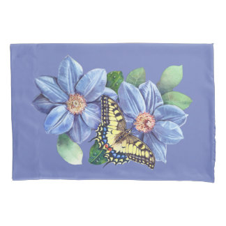 Fronha de almofada da borboleta da aguarela (2