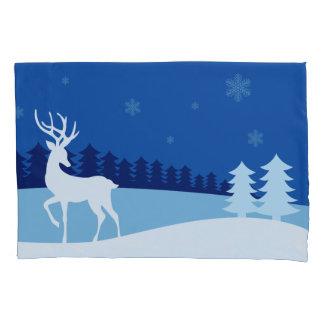 Fronha de almofada da ilustração da rena