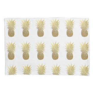 Fronha de almofada do abacaxi do ouro