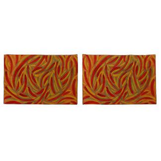 Fronha de almofada do design das cores do outono