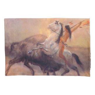 Fronha de almofada do nativo americano do caçador