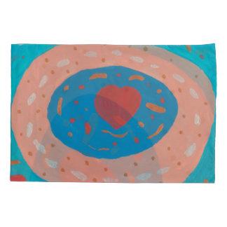Fronha de almofada dos círculos do amor única,