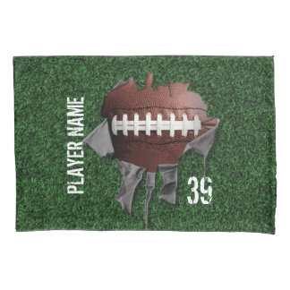 Fronha de almofada escura personalizada futebol