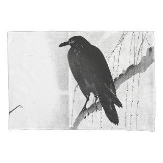 Fronha de almofada japonesa do padrão do corvo