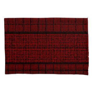 Fronha de almofada modernas pretas vermelhas da
