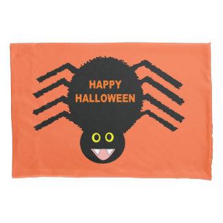 Fronha de almofada preta da aranha do Dia das