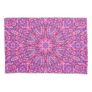 Fronha de almofada roxas cor-de-rosa do