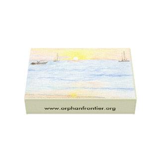 Fronteira órfão impressão de canvas envolvidas