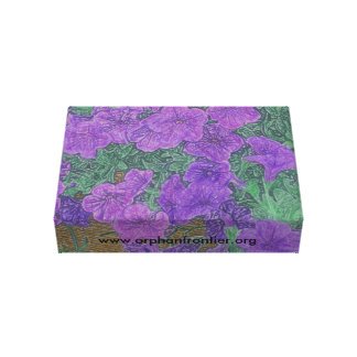 Fronteira órfão impressão de canvas envolvida