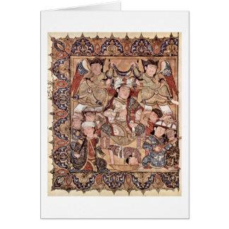 Frontispício com príncipe Enthroned Árabe Pintor Cartão Comemorativo