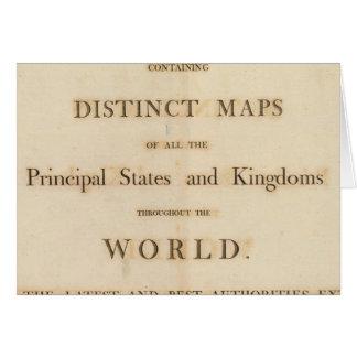 Frontispício do atlas universal novo cartao