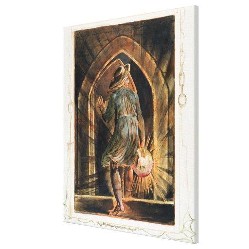 """Frontispiece a """"Jerusalem"""" (cópia de Bentley E) 18 Impressão Em Canvas"""