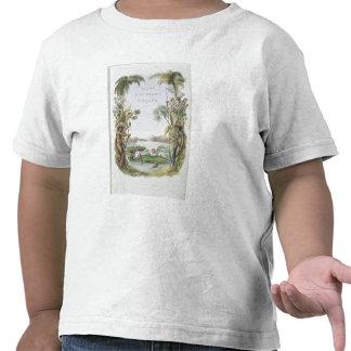 """Frontispiece às """"vistas no interior de Guiana"""", Camisetas"""
