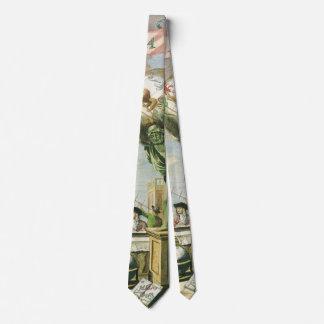 Frontispiece do atlas do vintage, globo do mundo gravata
