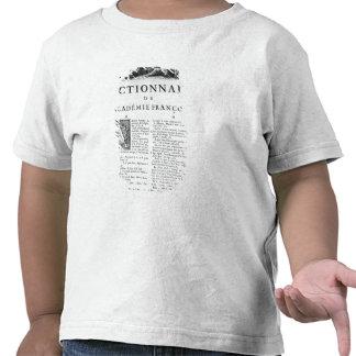 Frontispiece para o dicionário da academia frances tshirt