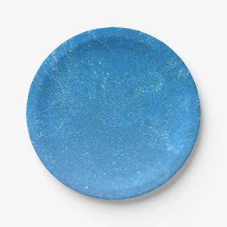 Frost pesado prato de papel