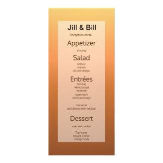 Frugal econômico económico do cartão do menu do