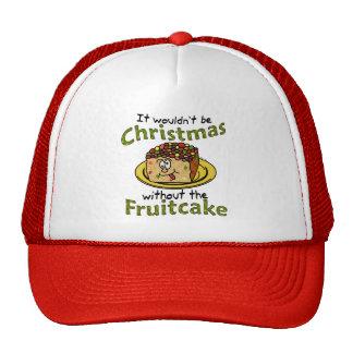 Fruitcake engraçado dos desenhos animados do Natal Bonés