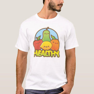 Fruta bonito saudável camiseta