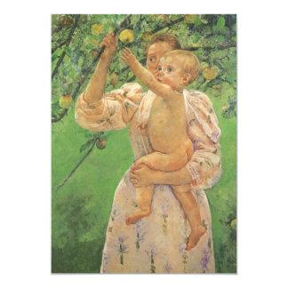 Fruta da colheita da criança pelo chá de fraldas convites personalizados