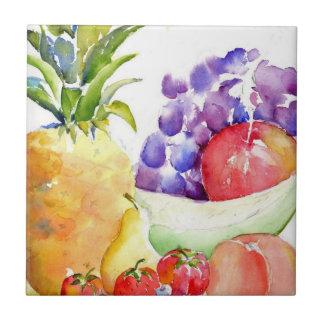 Fruta fresca nas aguarelas