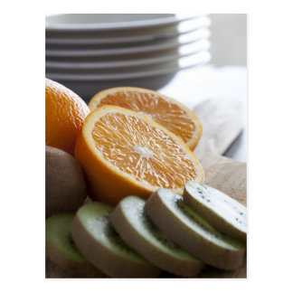 Fruta fresca para o cartão do pequeno almoço