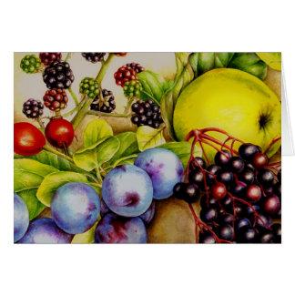 Frutas do cartão diário das belas artes do