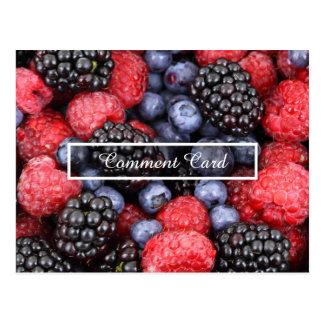 frutas do cartão do comentário