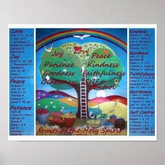 Frutas do poster com versos - tamanho do espírito