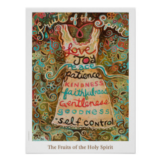 Frutas do poster da sala de aula do Espírito Santo