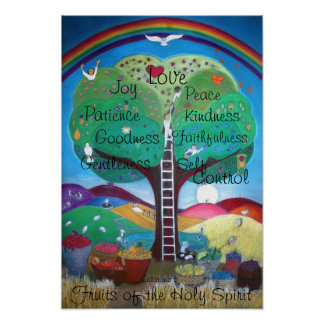 Frutas do poster do Espírito Santo - disposição