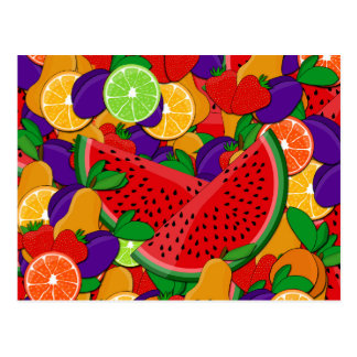 Frutas do verão cartão postal