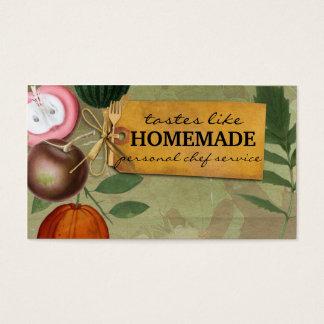 frutas do vintage do chique que cozinham o cartão