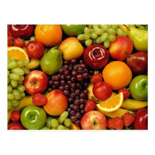frutas e frutas cartão postal