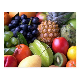 Frutas tropicais da mistura cartão postal