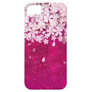 Fúcsia das flores de cerejeira de Sakura & flores Capas Para iPhone 5