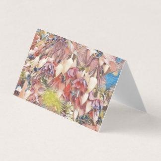 Fúcsia no cartão da flor