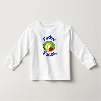 """Fudsy enfrenta"" - o logotipo, criança, luva Tshirt"